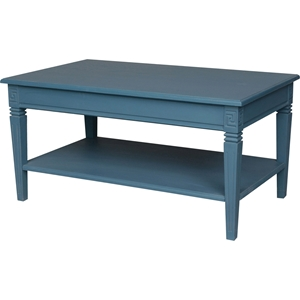 Ashbury Arte Coffee Table - 1 Shelf, Antique Blue