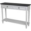 Bruges 2 Drawers Console Table - Antique White, Black - INTC-PS-BRG-10-AW-BK