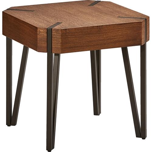 hamburg wood end table canyon oak top dcg stores. Black Bedroom Furniture Sets. Home Design Ideas