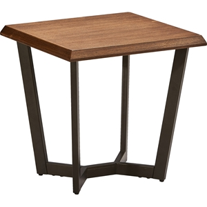 Hamburg Square End Table - Canyon Oak Top