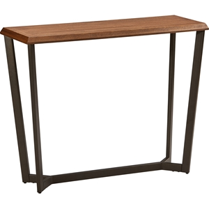 Hamburg Rectangular Console Table - Canyon Oak Top