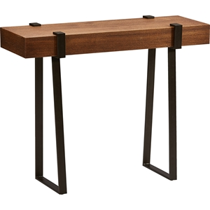 Hamburg Console Table - Canyon Oak Top, Rectangular, Sled Leg