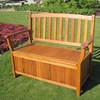 Royal Tahiti Wooden Patio Bench - Storage Seat - INTC-TT-2B-030