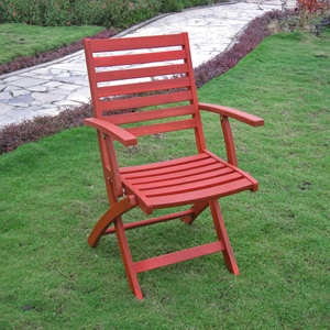 Tremendous Royal Fiji Acacia Folding Painted Ladder Back Patio Chair Barn Red Set Of 2 Gmtry Best Dining Table And Chair Ideas Images Gmtryco