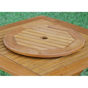 Royal Tahiti 20 Inch Wooden Lazy Susan