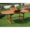 Royal Tahiti Saragossa Outdoor Dining Set - Oval Extension Table - INTC-TT-OVE-017-PC-041-6CH