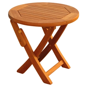 Royal Tahiti 19 Inch Wooden Folding Patio Table