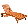 Royal Tahiti Wooden Outdoor Chaise Lounge With Tray Dcg Stores