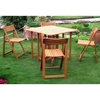 Royal Tahiti Galveston Patio Set - Drop Leaf Table, Folding Chairs - INTC-TT-VN-0149