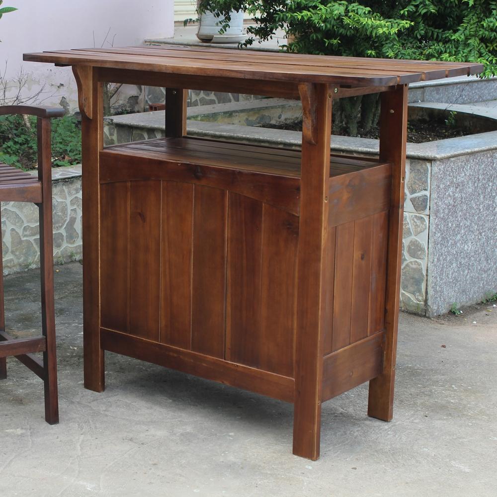 Marvelle Wooden Adirondack Patio Bar Table