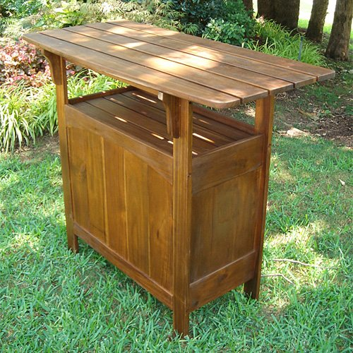Marvelle Wooden Adirondack Patio Bar Table
