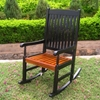 Tessa Black Porch Rocker Chair - INTC-VF-4108-BK-OK