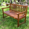 Pescara Slatted Wooden Bench - INTC-VF-4110-ST