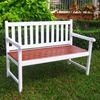 Pescara White Slatted Wooden Bench - INTC-VF-4110-WT-OK