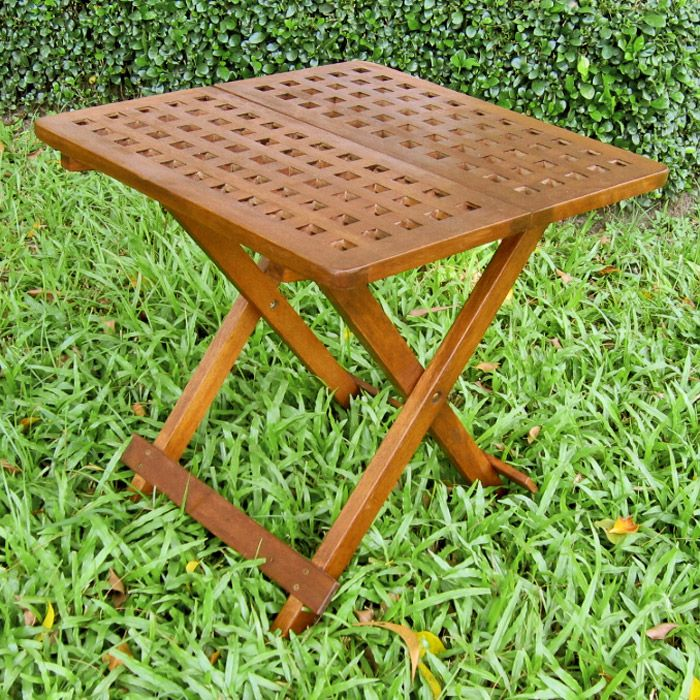Tinsley wooden checkerboard outdoor folding table dcg stores - Wooden outdoor folding table ...