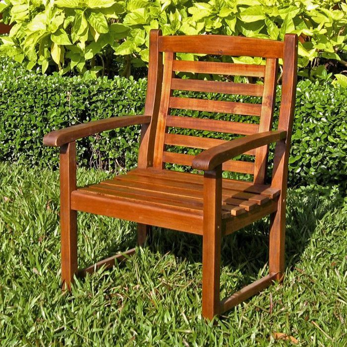 Trinidad Wooden Outdoor Armchair - INTC-VF-4206