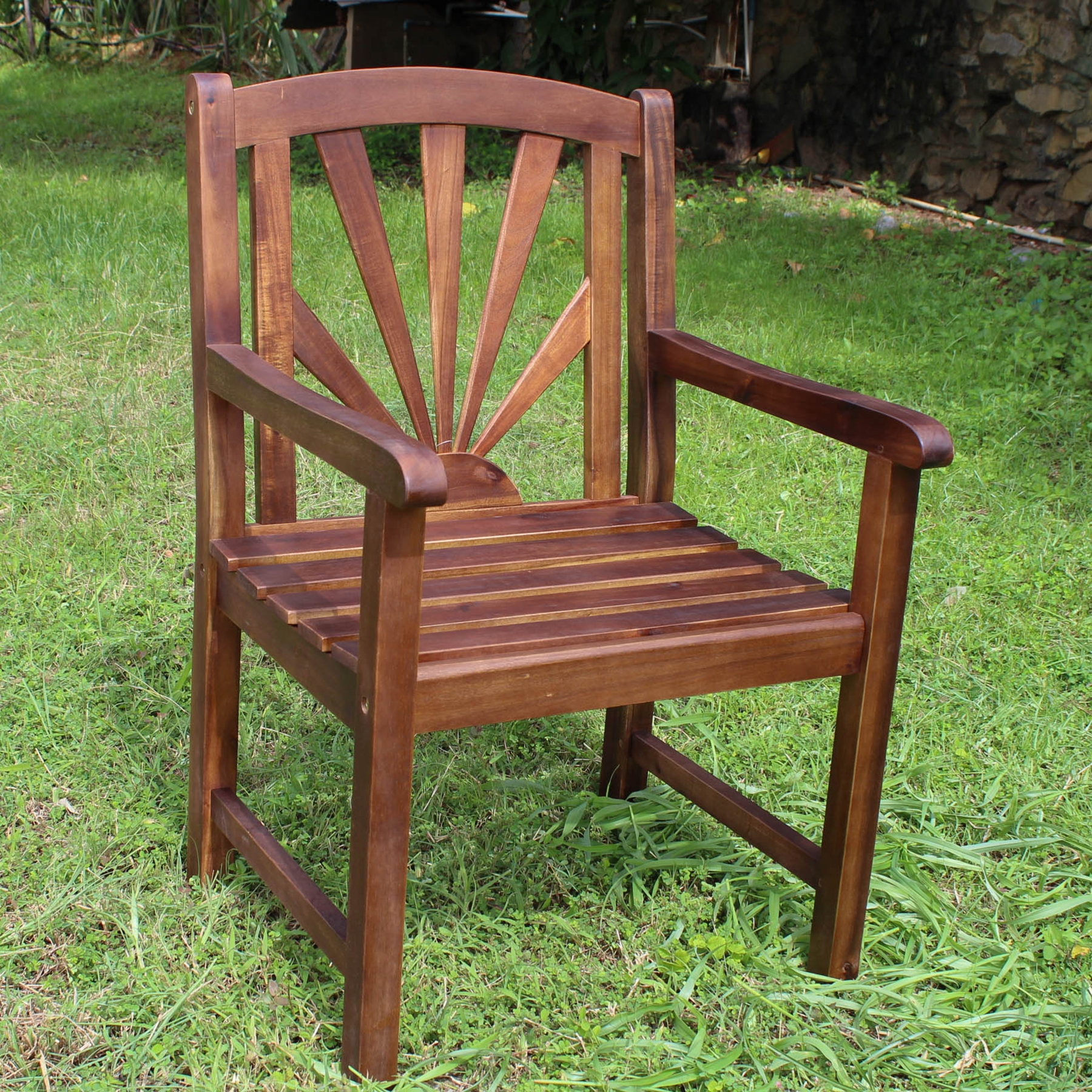 Sapporo Wooden Outdoor Armchair - INTC-VF-4207