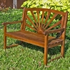 Sapporo 4 Foot Wooden Patio Bench - INTC-VF-4307