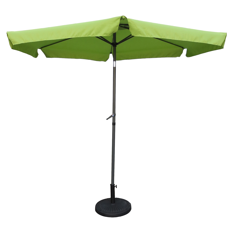 St Kitts 9 Foot Aluminum Patio Umbrella With Crank / Tilt   Grass Green