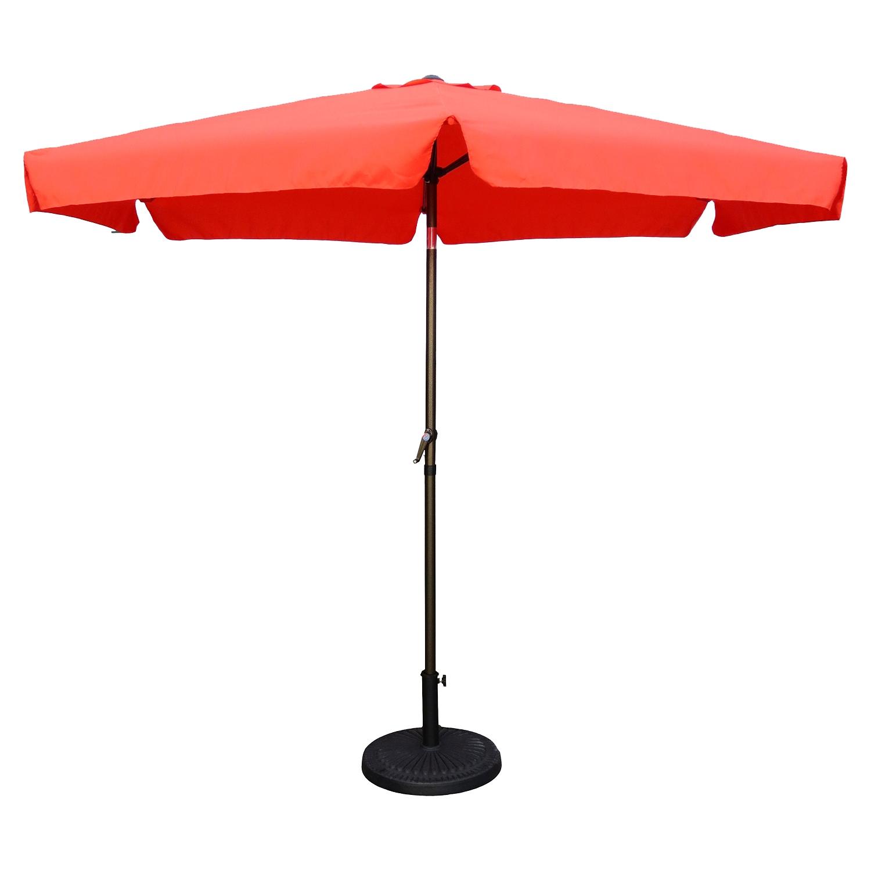 St Kitts 9 Foot Aluminum Patio Umbrella With Crank / Tilt   Tangerine Dream  | DCG Stores