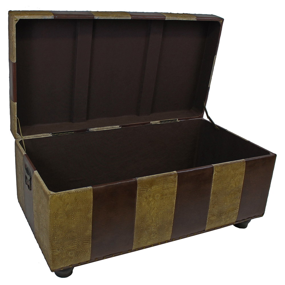 Marvin Mix Pattern Storage Bench Trunk Dcg Stores