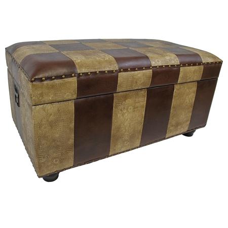 Marvin Mix Pattern Storage Bench Trunk Dcg Stores