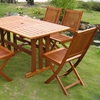 Royal Tahiti Zamora 7 Piece Patio Dining Set - Folding Chairs - INTC-TT-RE-007-VN-128-6CH