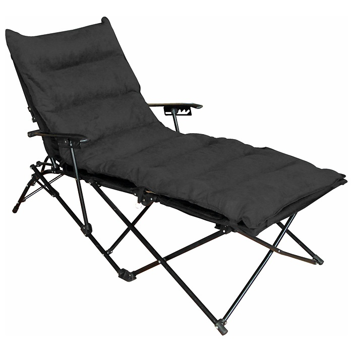 Redford folding chaise lounge carry bag black - Folding outdoor chaise lounge ...