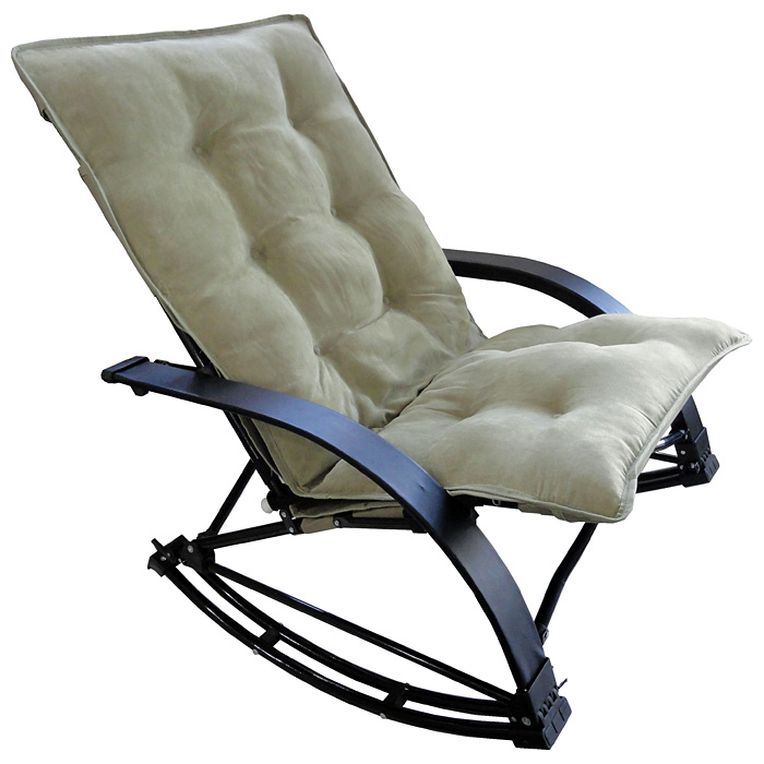 Redford Folding Rocker Chair - Sage Microsuede