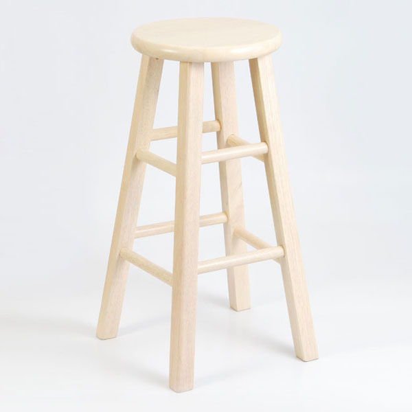 "30 Round High Top Restaurant Cafe Bar Table And Cherry: Wooden 30"" Round Top Bar Stool"