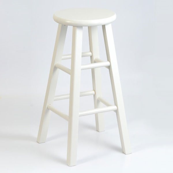 ... Wooden 30  Round Top Bar Stool - IC-1SXX- ... : wooden white stool - islam-shia.org