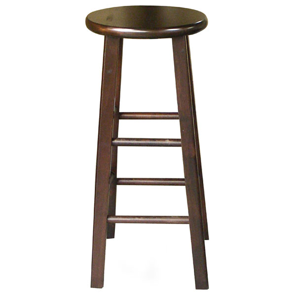 Wooden quot round top bar stool dcg stores