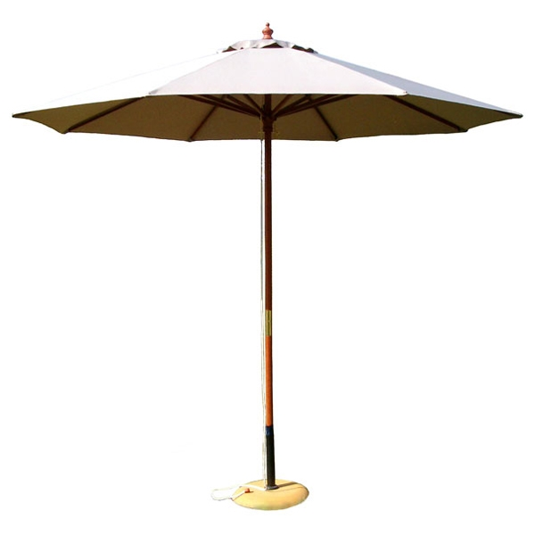 9' Outdoor Natural Umbrella