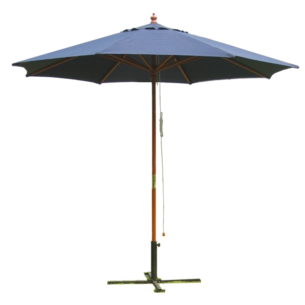 9' Outdoor Navy Blue Umbrella
