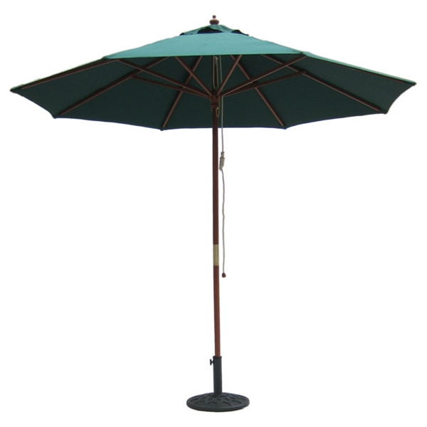 9' Outdoor Hunter Green Umbrella