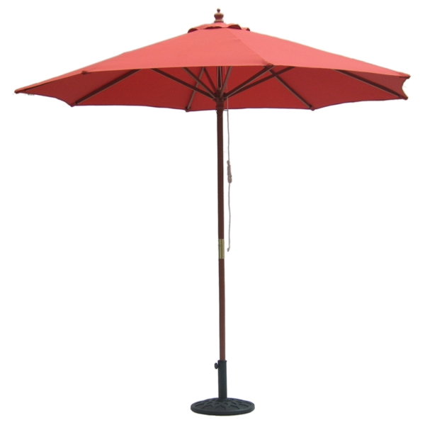 9' Outdoor Autumn Red Umbrella