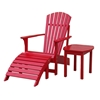 Red Outdoor Adirondack Footstool - IC-S-92248