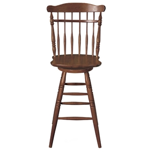 "Soft 30"" Cherry Wooden Swivel Bar Stool"