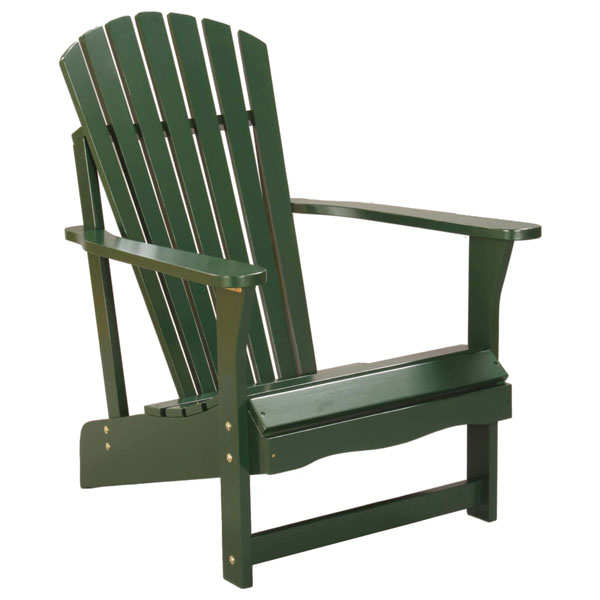 Hunter Green Solid Wood Adirondack Chair