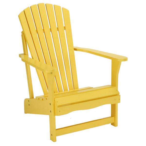 Outdoor Adirondack Chair in Yellow