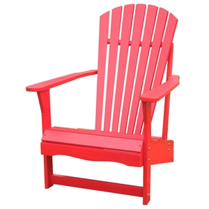 Red Adirondack Outdoor Chair