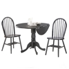 Round Dual Drop Leaf Pedestal Table - Multiple Colors - IC-TXX-42DP