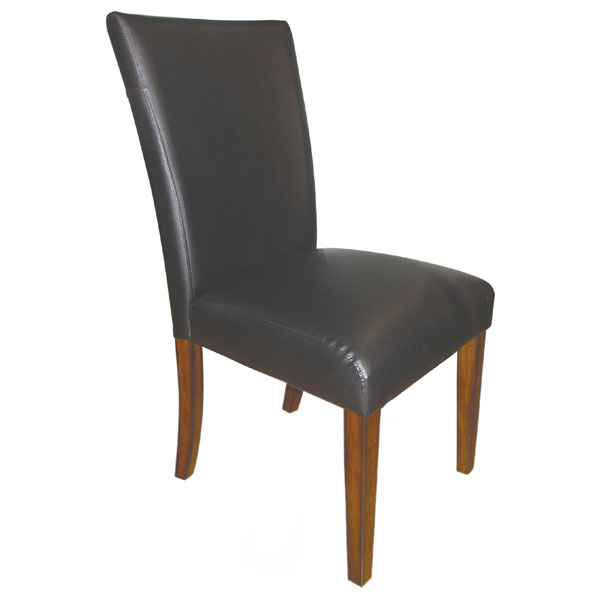 vinyl upholstered dining chair in black dcg stores. Black Bedroom Furniture Sets. Home Design Ideas