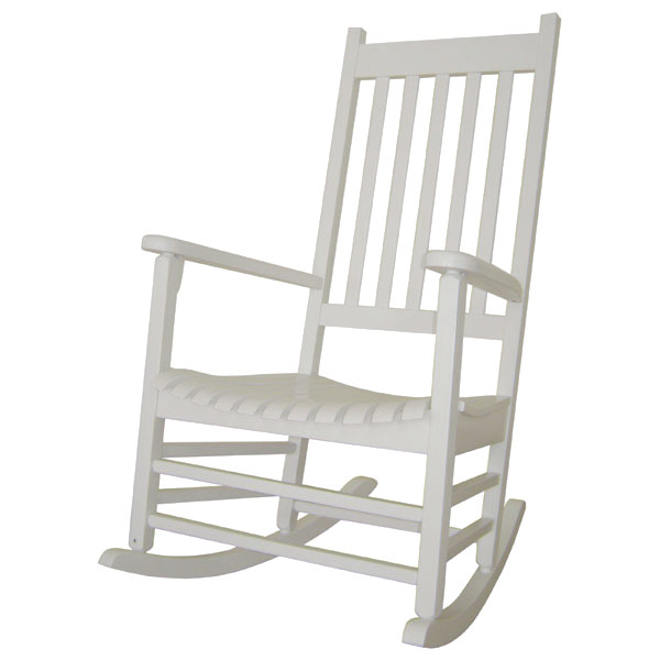 Outdoor Porch Rocker in White