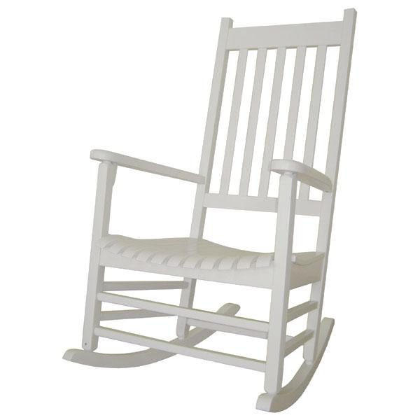 outdoor porch rocker in white dcg stores. Black Bedroom Furniture Sets. Home Design Ideas