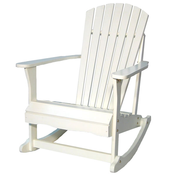 White Outdoor Adirondack Rocking Chair