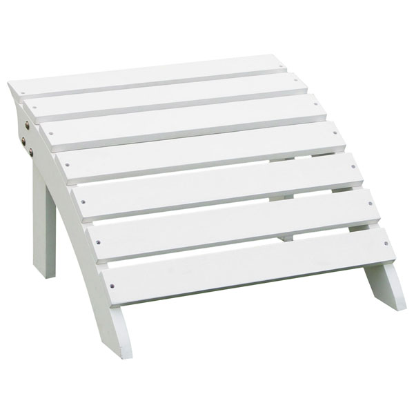 Outdoor Adirondack Footrest in White