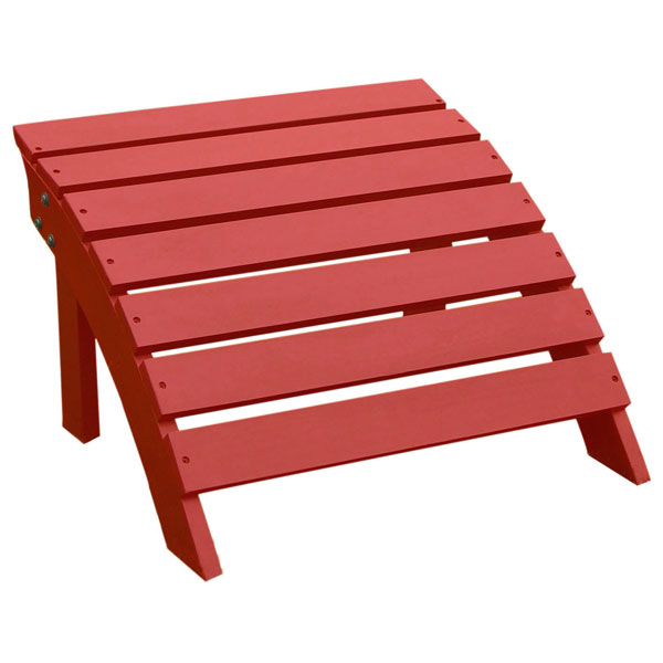 Red Outdoor Adirondack Footstool