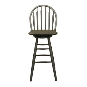 "Wooden 30"" Swivel Bar Height Stool"