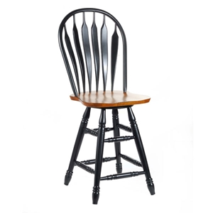 "Steambent 24"" Counter Stool in Arrowback"